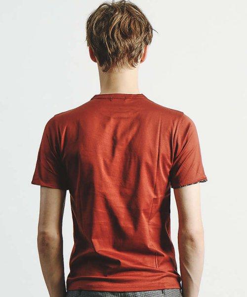 ABAHOUSE(ABAHOUSE)/幾何学柄シルケットTシャツ/00350021048_img05