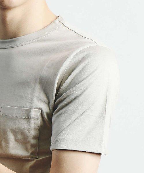 ABAHOUSE(ABAHOUSE)/幾何学柄シルケットTシャツ/00350021048_img17