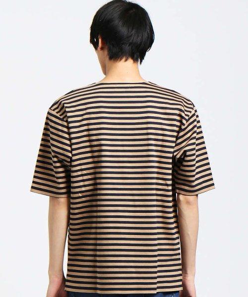 ABAHOUSE(ABAHOUSE)/【WEB別注】圧着ポンチボーダーポケットTシャツ/00355021104_img05