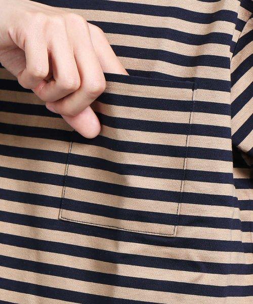 ABAHOUSE(ABAHOUSE)/【WEB別注】圧着ポンチボーダーポケットTシャツ/00355021104_img10