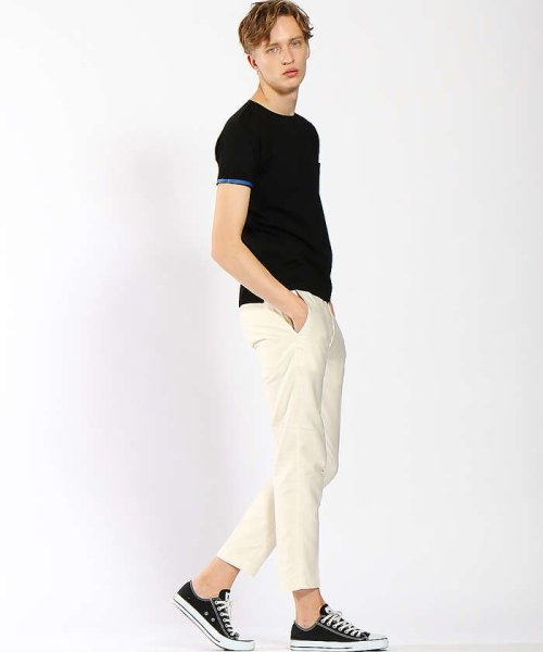 ABAHOUSE(ABAHOUSE)/【WEB別注】圧着クルーネック ポケットTシャツ/00355021105_img01