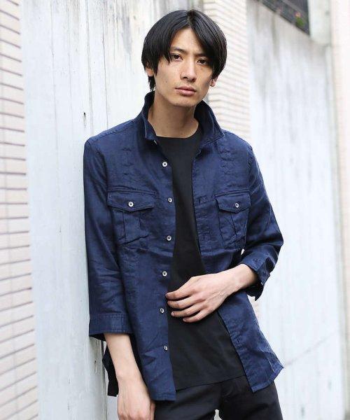 ABAHOUSE(ABAHOUSE)/【WEB別注】圧着クルーネック ポケットTシャツ/00355021105_img02