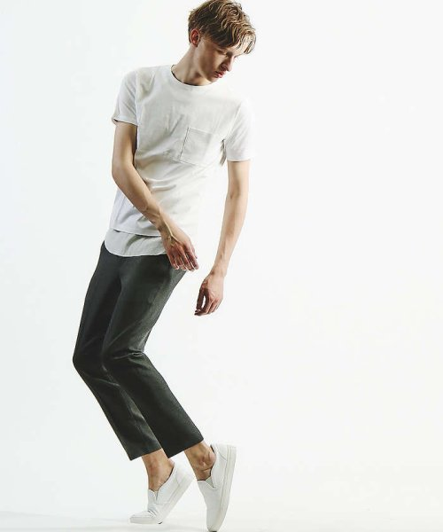 ABAHOUSE(ABAHOUSE)/【WEB別注】圧着クルーネック ポケットTシャツ/00355021105_img04