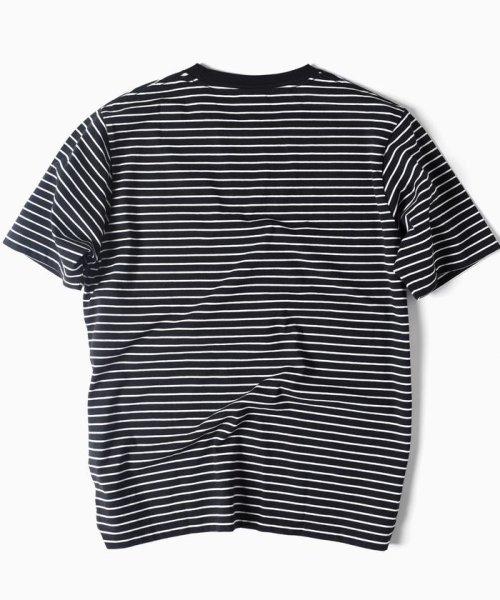 SHIPS MEN(シップス メン)/Champion×SHIPS: 別注 ウォッシュドコットン ドロップテイル ボーダー Tシャツ/112130902_img01