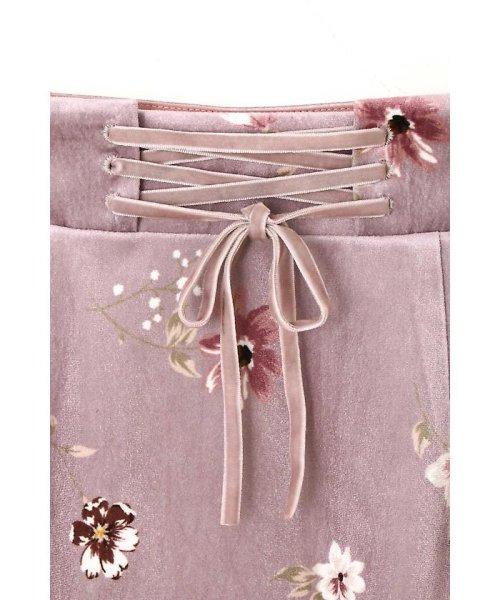 PROPORTION BODY DRESSING(プロポーション ボディドレッシング)/ベロアフラワープリントタイトスカート/1217220509_img21