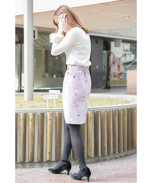 PROPORTION BODY DRESSING(プロポーション ボディドレッシング)/ベロアフラワープリントタイトスカート/1217220509_img24