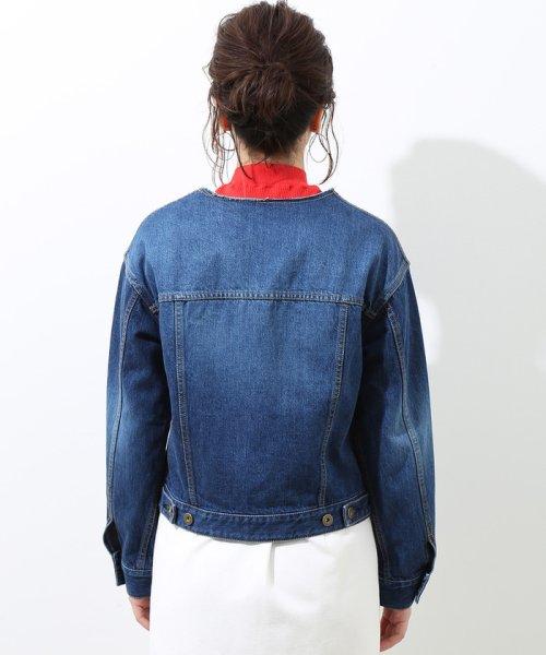 ROPE' mademoiselle(ロペ マドモアゼル)/フリンジノーカラーデニムジャケット/GWL4800_img02