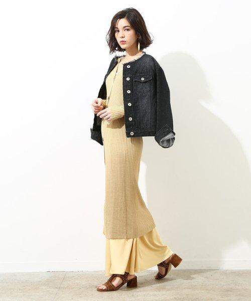 ROPE' mademoiselle(ロペ マドモアゼル)/フリンジノーカラーデニムジャケット/GWL4800_img11