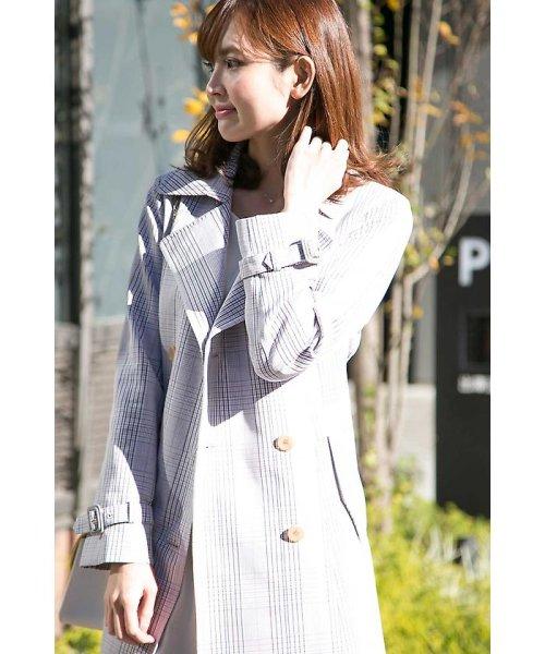 PROPORTION BODY DRESSING(プロポーション ボディドレッシング)/チェックトレンチコート/1218152201_img09