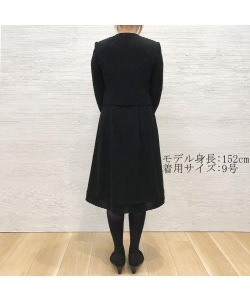 form forma(フォルムフォルマ)/【東京ソワール】【売れ筋No.1!】リボンベルト付きノーカラーブラックフォーマルス/0603300_img13