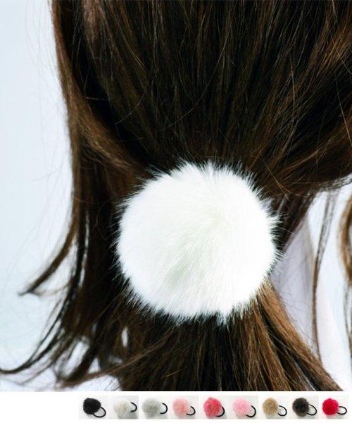 miniministore(ミニミニストア)/ポンポン ファー ヘアゴム ヘアアクセサリー 秋冬 髪飾り 髪留め/HNUO-001_img01