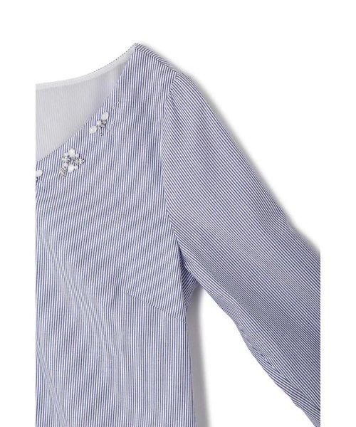 PROPORTION BODY DRESSING(プロポーション ボディドレッシング)/シルキーローンビジューパフスリーブブラウス/1218110206_img05