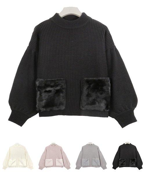 KOBE LETTUCE(神戸レタス)/ファーポケットデザインニット/C3014_img07