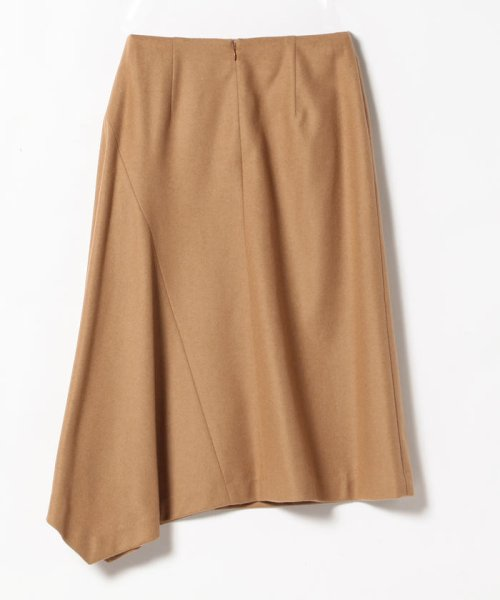 BEAMS OUTLET(ビームス アウトレット)/Demi−Luxe BEAMS / キャメル混アシンメトリーヘムスカート/68270354126_img05