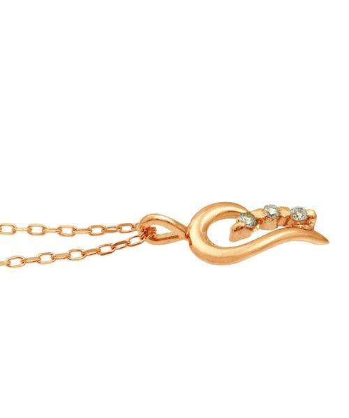 JEWELRY SELECTION(ジュエリーセレクション)/贅沢なオール18金ゴールド!K18ゴールド 天然ダイヤモンド ネックレス 選べる3カラー 【ティアドロップ/K18PG】/NSUZ12622001CTA40K18PG_img01