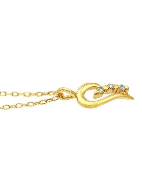 JEWELRY SELECTION(ジュエリーセレクション)/贅沢なオール18金ゴールド!K18ゴールド 天然ダイヤモンド ネックレス 選べる3カラー 【ティアドロップ/K18YG】/NSUZ12622001CTA40K18YG_img01