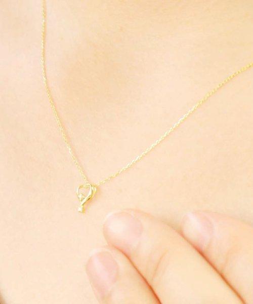 JEWELRY SELECTION(ジュエリーセレクション)/贅沢なオール18金ゴールド!K18ゴールド 天然ダイヤモンド ネックレス 選べる3カラー 【ティアドロップハート/K18YG】/NSUZ12624001CTA40K18YG_img02