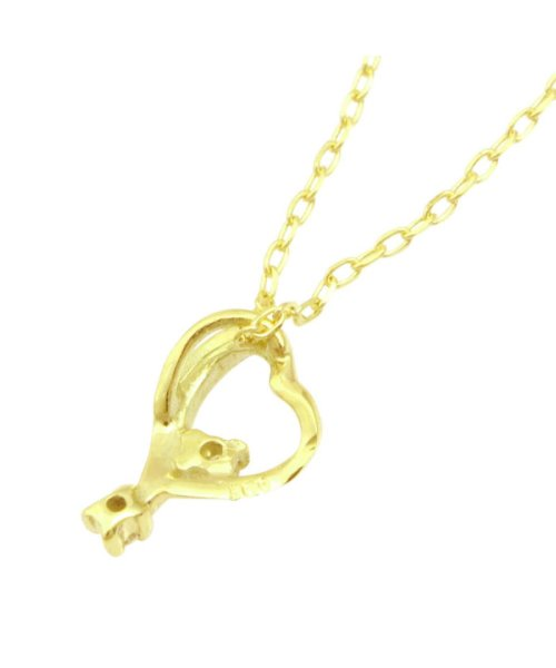 JEWELRY SELECTION(ジュエリーセレクション)/贅沢なオール18金ゴールド!K18ゴールド 天然ダイヤモンド ネックレス 選べる3カラー 【ティアドロップハート/K18YG】/NSUZ12624001CTA40K18YG_img03