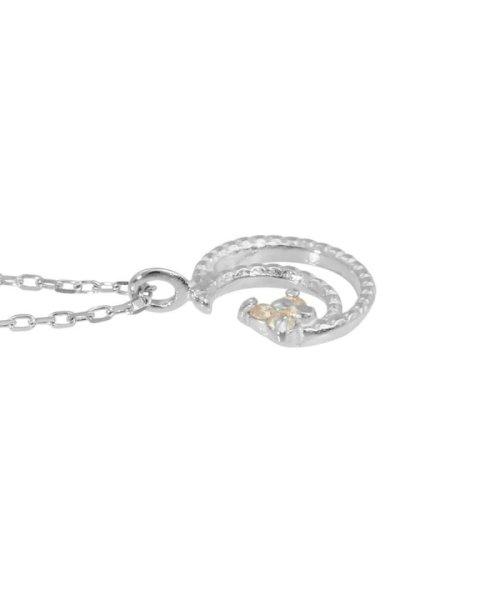 JEWELRY SELECTION(ジュエリーセレクション)/贅沢なオール18金ゴールド!K18ゴールド 天然ダイヤモンド ネックレス 選べる3カラー 【ムーンミル/K18WG】/NSUZ12662001CTA40K18WG_img03