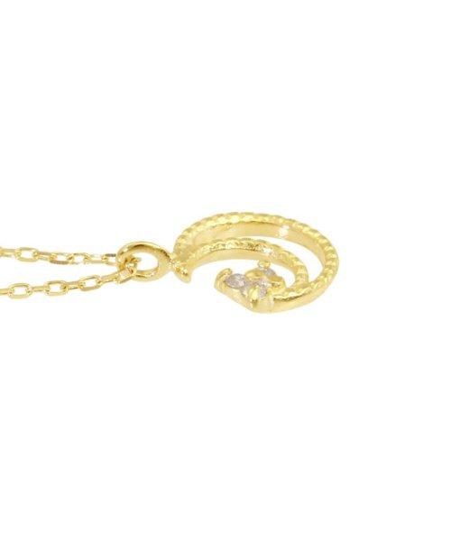 JEWELRY SELECTION(ジュエリーセレクション)/贅沢なオール18金ゴールド!K18ゴールド 天然ダイヤモンド ネックレス 選べる3カラー 【ムーンミル/K18YG】/NSUZ12662001CTA40K18YG_img03