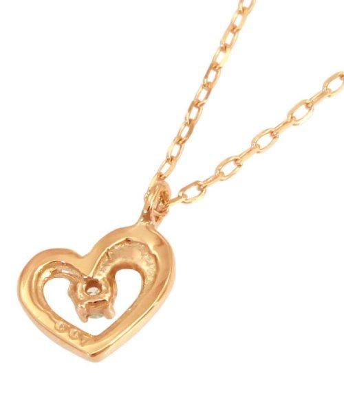 JEWELRY SELECTION(ジュエリーセレクション)/贅沢なオール18金ゴールド!K18ゴールド 天然ダイヤモンド ネックレス 選べる3カラー 【ハート/K18PG】/NSUZ12715001CTA40K18PG_img01