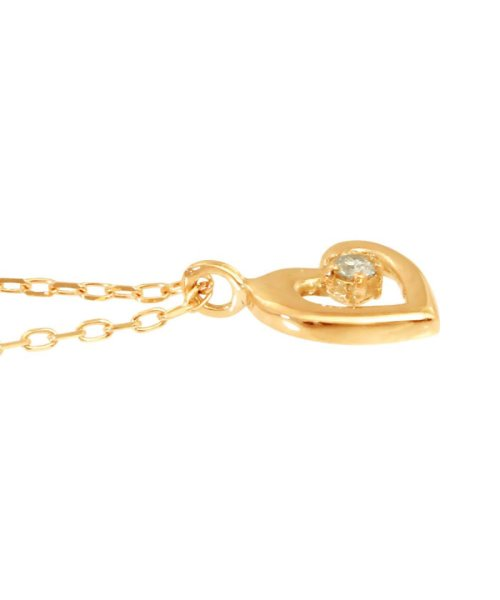 JEWELRY SELECTION(ジュエリーセレクション)/贅沢なオール18金ゴールド!K18ゴールド 天然ダイヤモンド ネックレス 選べる3カラー 【ハート/K18PG】/NSUZ12715001CTA40K18PG_img02