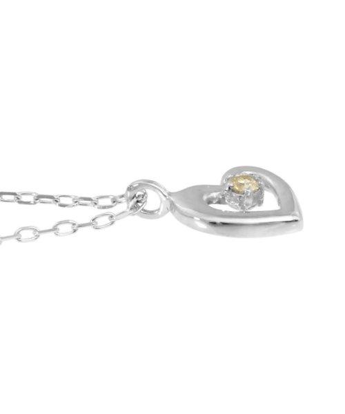JEWELRY SELECTION(ジュエリーセレクション)/贅沢なオール18金ゴールド!K18ゴールド 天然ダイヤモンド ネックレス 選べる3カラー 【ハート/K18WG】/NSUZ12715001CTA40K18WG_img01