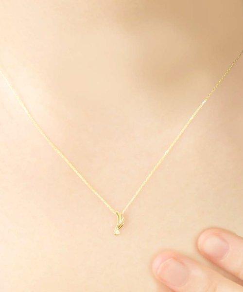 JEWELRY SELECTION(ジュエリーセレクション)/贅沢なオール18金ゴールド!K18ゴールド 天然ダイヤモンド ネックレス 選べる3カラー 【ウイング/K18YG】/NSUZ12720001CTA40K18YG_img02