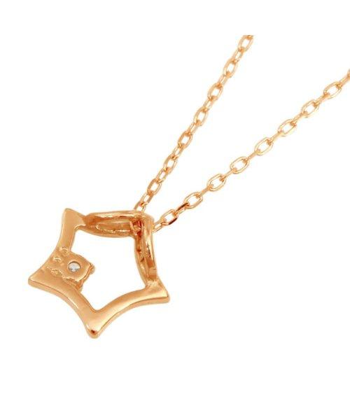 JEWELRY SELECTION(ジュエリーセレクション)/贅沢なオール18金ゴールド!K18ゴールド 天然ダイヤモンド ネックレス 選べる3カラー 【スター/K18PG】/NSUZ12722001CTA40K18PG_img02