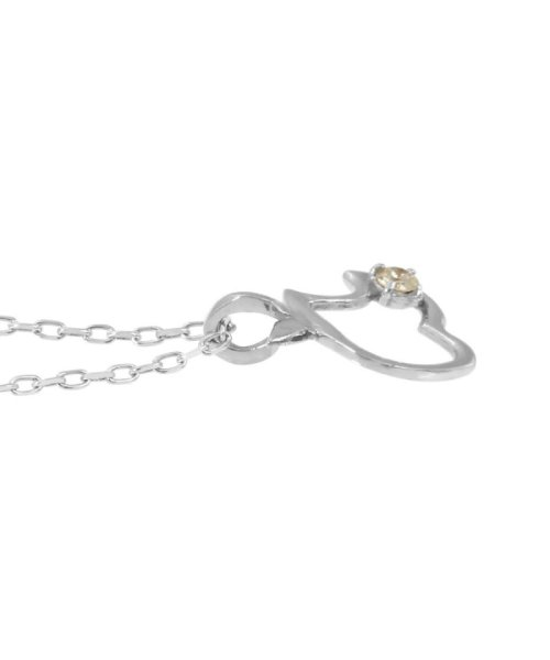 JEWELRY SELECTION(ジュエリーセレクション)/贅沢なオール18金ゴールド!K18ゴールド 天然ダイヤモンド ネックレス 選べる3カラー 【アップル/K18WG】/NSUZ12723001CTA40K18WG_img01