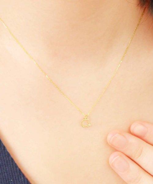 JEWELRY SELECTION(ジュエリーセレクション)/贅沢なオール18金ゴールド!K18ゴールド 天然ダイヤモンド ネックレス 選べる3カラー 【アップル/K18YG】/NSUZ12723001CTA40K18YG_img02