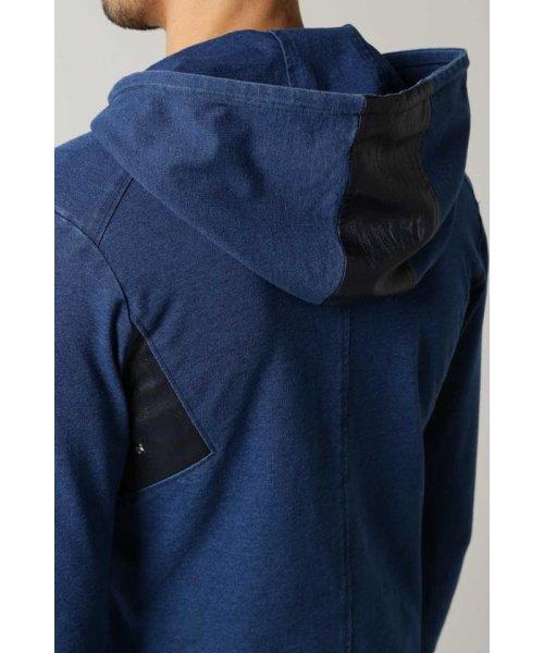 TORNADO MART(トルネードマート)/BLUE TORNADO∴カットデニムコンビネーションパーカ/6318977810_img07