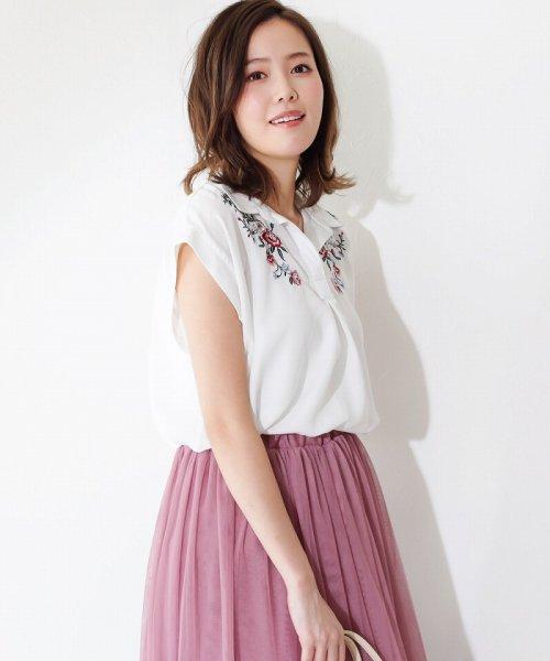 SocialGIRL(ソーシャルガール)/オトナのとろみスキッパーシャツ/87203010-80_img07