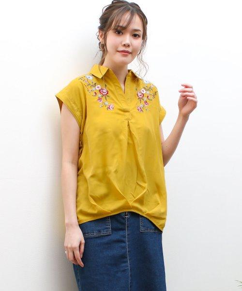 SocialGIRL(ソーシャルガール)/オトナのとろみスキッパーシャツ/87203010-80_img08