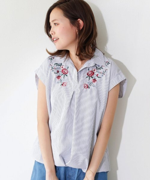 SocialGIRL(ソーシャルガール)/オトナのとろみスキッパーシャツ/87203010-80_img13