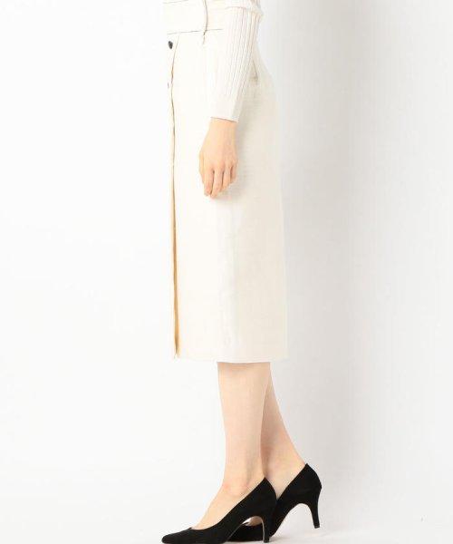 SHIPS WOMEN(シップス ウィメン)/Prefer SHIPS: ソリッドサイドボタンスカート/313200362_img02