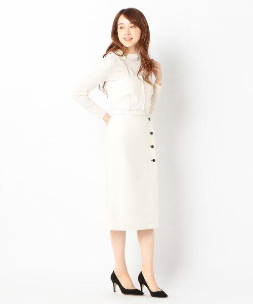 SHIPS WOMEN(シップス ウィメン)/Prefer SHIPS: ソリッドサイドボタンスカート/313200362_img04