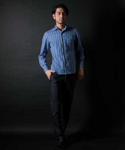 MICHEL KLEIN HOMME(ミッシェルクランオム)/ラッセルストライプシャツ/MNBDD63180_img02