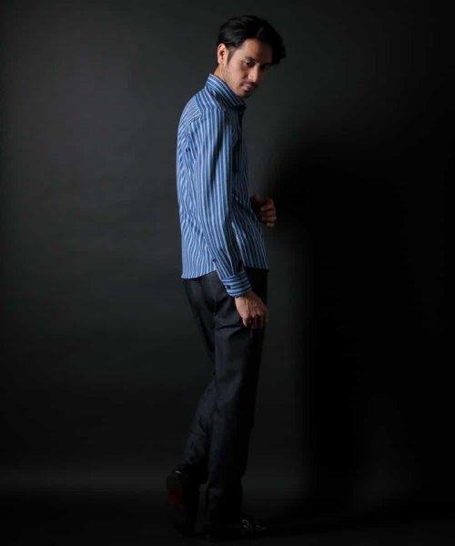 MICHEL KLEIN HOMME(ミッシェルクランオム)/ラッセルストライプシャツ/MNBDD63180_img04