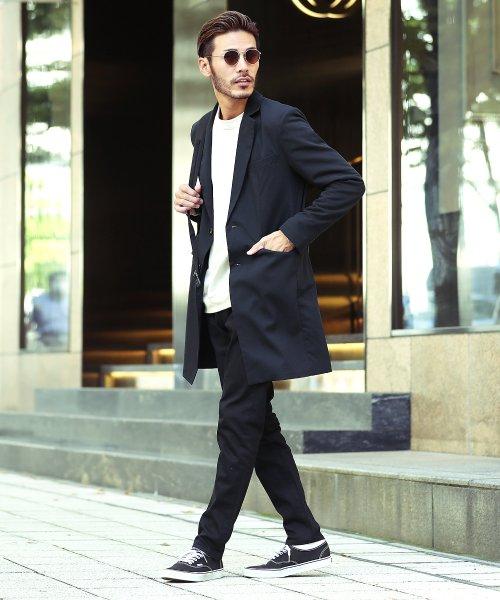 JIGGYS SHOP(ジギーズショップ)/TRストレッチチェスターコート / チェスターコート メンズ スプリングコート コート ロング スーツ地/201109_img11