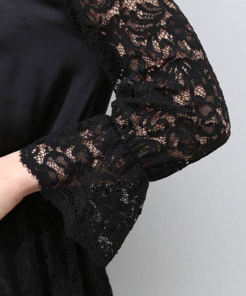ROPE' mademoiselle(ロペ マドモアゼル)/【結婚式にも】レースコンビギャザーワンピース/GWE4804_img06