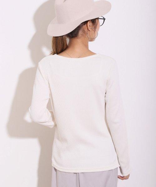 and Me...(アンドミー)/【B-1】リブニット Vネック 長袖 Tシャツ カットソー トップス/6000608_img10