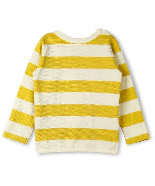 branshes(ブランシェス)/ハチス編みボーダー長袖Tシャツ/118105361_img01