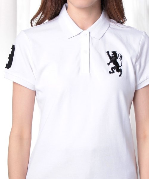 GIORDANOL(ジョルダーノ(レディース))/【ライクラ素材使用】3Dライオン刺繍ポロシャツ/GD18SS05318202_img46