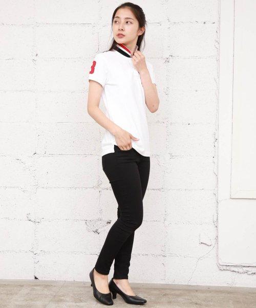 GIORDANOL(ジョルダーノ(レディース))/【ライクラ素材使用】3Dライオン刺繍ポロシャツ/GD18SS05318202_img03