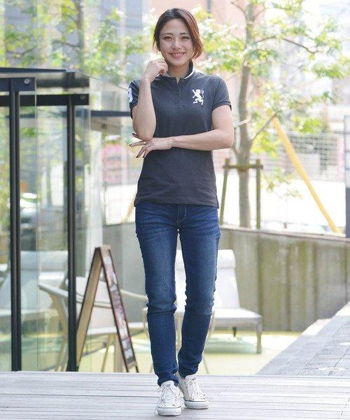 GIORDANOL(ジョルダーノ(レディース))/【ライクラ素材使用】3Dライオン刺繍ポロシャツ/GD18SS05318202_img04