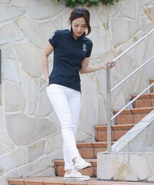 GIORDANOL(ジョルダーノ(レディース))/【ライクラ素材使用】3Dライオン刺繍ポロシャツ/GD18SS05318202_img05