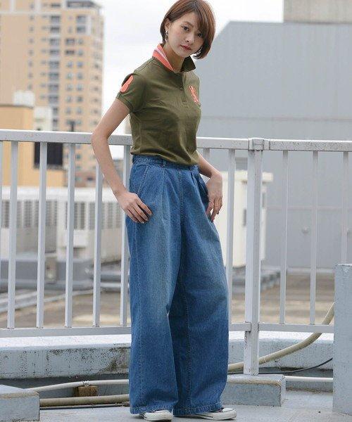 GIORDANOL(ジョルダーノ(レディース))/【ライクラ素材使用】3Dライオン刺繍ポロシャツ/GD18SS05318202_img08