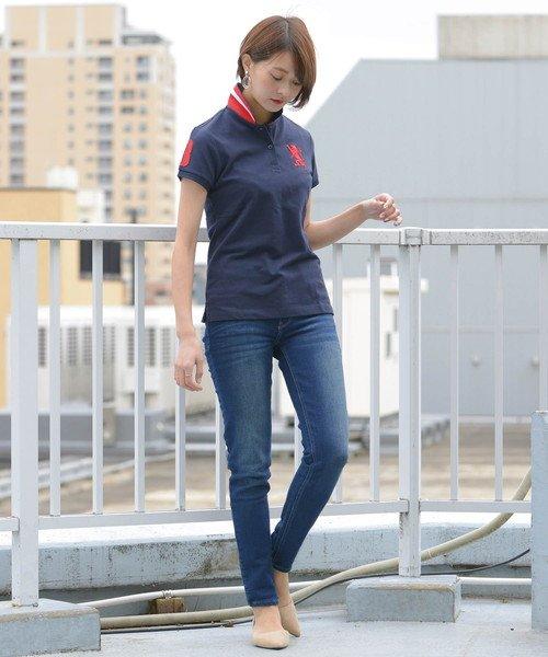 GIORDANOL(ジョルダーノ(レディース))/【ライクラ素材使用】3Dライオン刺繍ポロシャツ/GD18SS05318202_img09