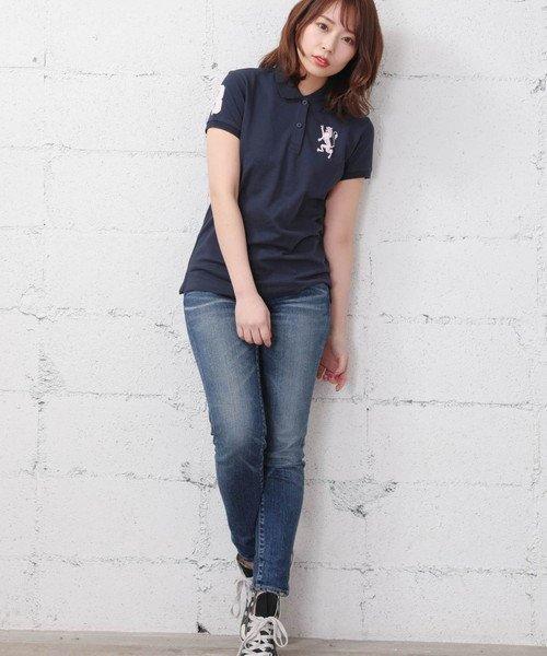 GIORDANOL(ジョルダーノ(レディース))/【ライクラ素材使用】3Dライオン刺繍ポロシャツ/GD18SS05318202_img11